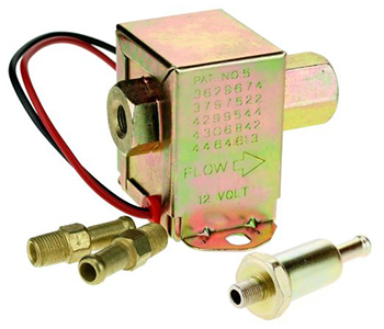 Electric fuel pump for riding mowers universal 12v. replaces general engines 3629674, 3797522, 4299544, 4306842, 4464613.